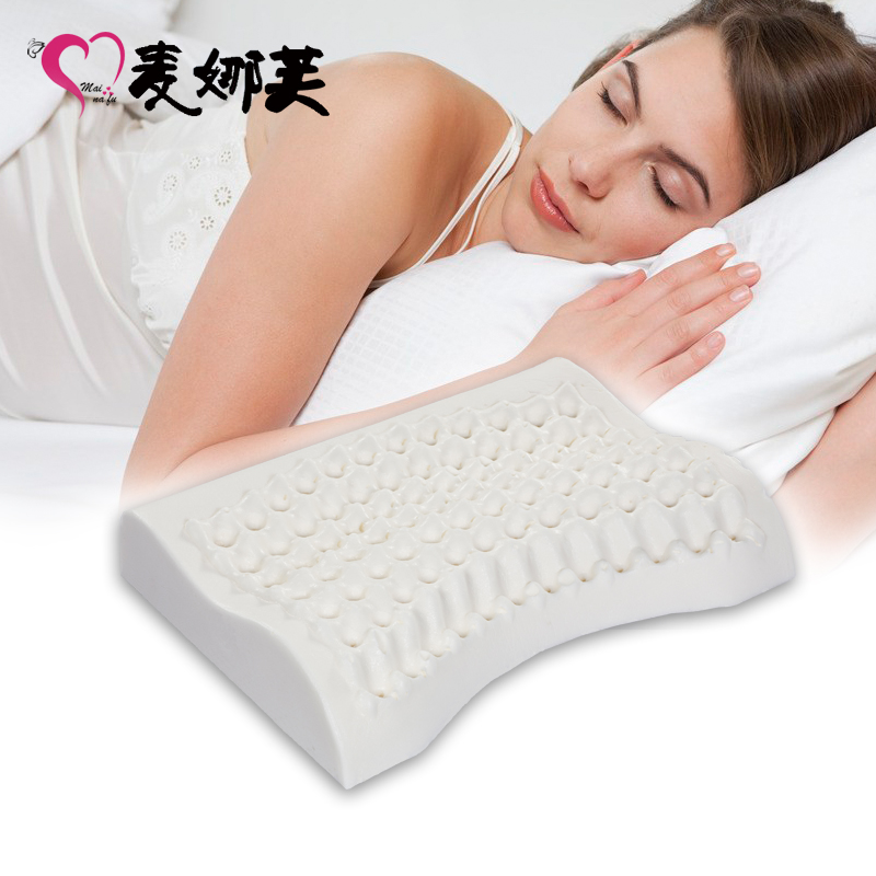 my love women's pillow cervical pillow natural latex pillow(China (Mainland))