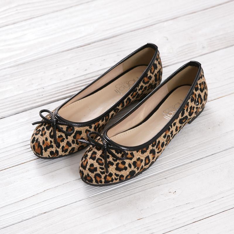 Free Shippingleopard Flatswomen 2013 Fashion Bow Casual Shoes Plus Size 43 Women 39 S Shoes