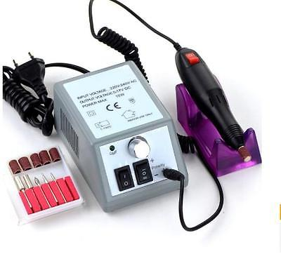 Electric Nail Art Drill Manicure Set File Grey Nail Pen Machine Set Kit With EU Plug Free Shipping<br><br>Aliexpress
