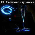 EL Headphones Led Glow el Sport Stereo Led Headphones Glow in the Dark Earphones Earbud with