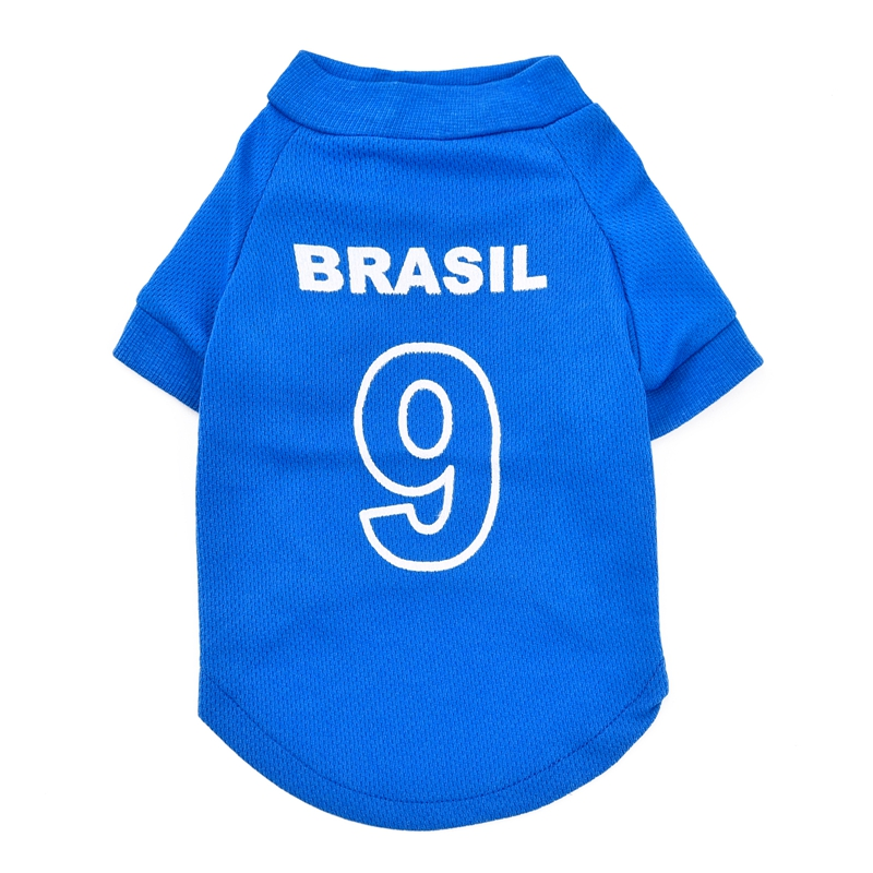 Football World Cup Pet T-shirt Dog Sweater Soccer Sports Clothes for Puppy Cat Clothing Pet Vest Fashion Style(China (Mainland))