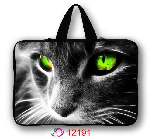 Green Eye Cat Computer Bag Notebook PC Smart Cover tablet ipad MacBook waterproof Sleeve Case 7 10 12 13 14 15 Laptop Bags