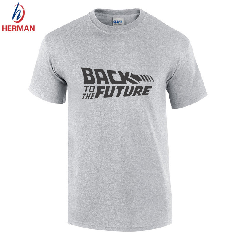 Back To The Future Printed Cotton Short Sleeve T-shirt Man Retour vers le futur T shirt Marty Print Clothing Men Movie Tee,GT223(China (Mainland))