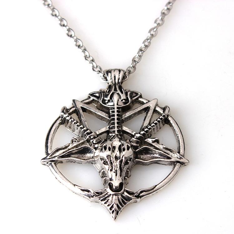 Гаджет  Baphomet Inverted Pentagram Goat Head Pendant Necklace Baphomet LaVeyan LaVey Satanism Occult Metal Pendant None Ювелирные изделия и часы