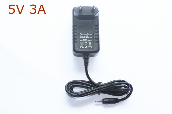 New 5V 3A DC 2.5mm EU Plug Converter Charger Power Supply Adapter for Tablet PC Free Shipping