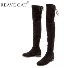 Thigh High Boots No Heel - Boot Hto