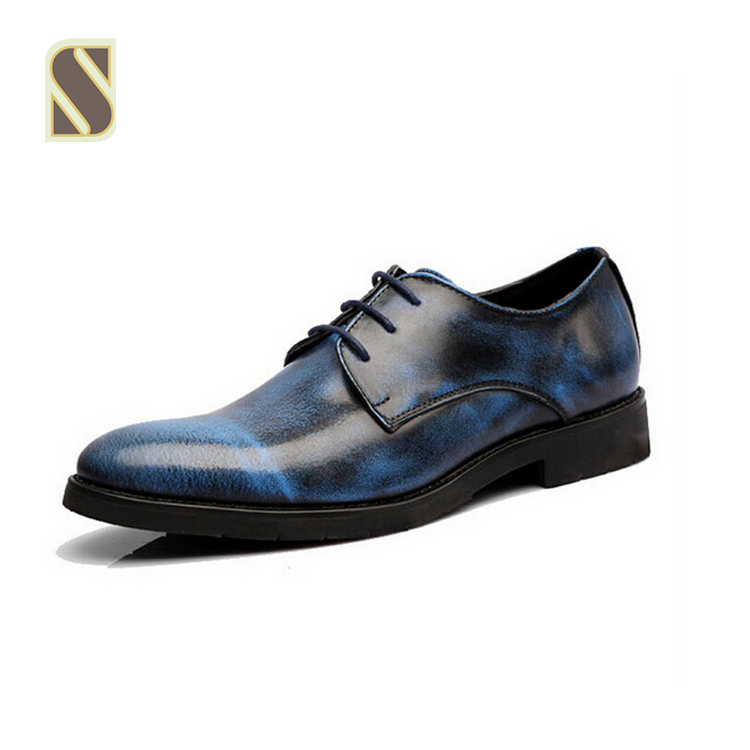 summer style fashion mens silver dress shoes
