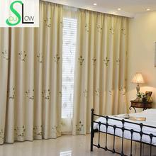 Exquisite Embroidered Sheer Tulle Blackout Curtains Korean Pastoral Style Floral Chinese Curtain Cortinas Rideaux Pour Le Salon(China (Mainland))