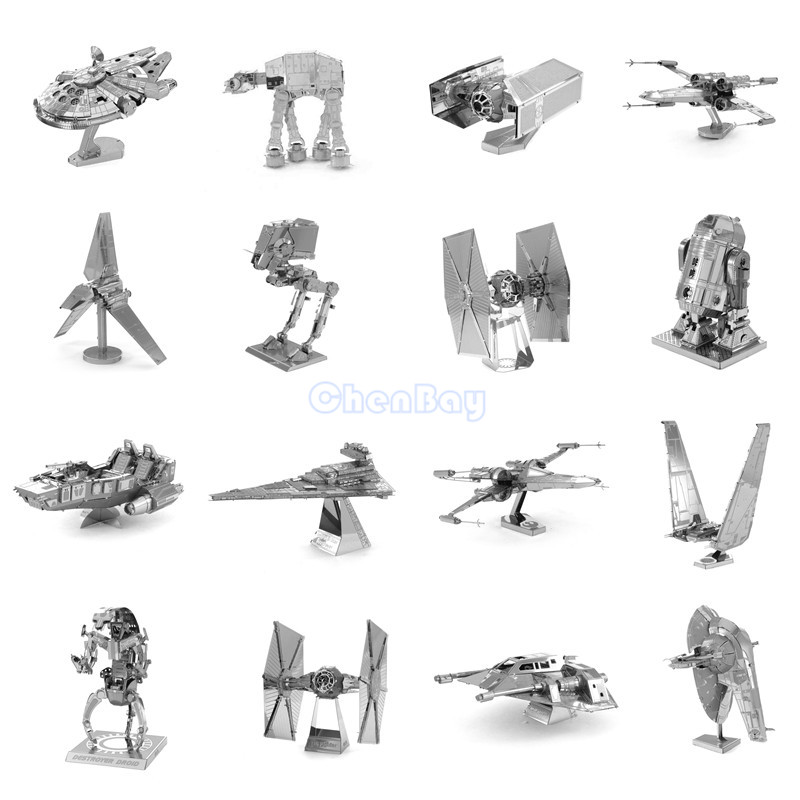 3D Metal Puzzle of Star Wars Assemble Miniature 3D Building Model Kits From Laser Cut Metal Sheets for Kids Educational Toys(China (Mainland))