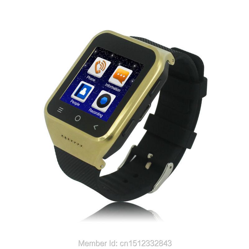 KDTi-K103-0103 Android 4.4/3G/GPS Watch Phone with Wi-Fi/Bluetooth 4.0/Waterproof/5MP Camera golden(China (Mainland))