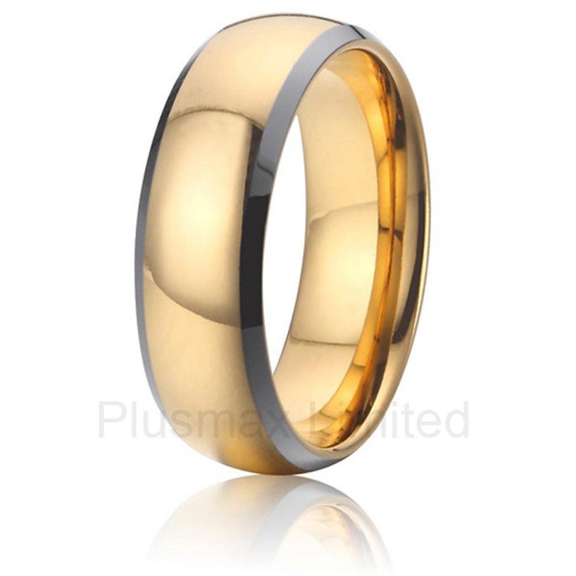 Фотография anel  titanium jewelry boyfriend gift gold plated finger wedding rings men