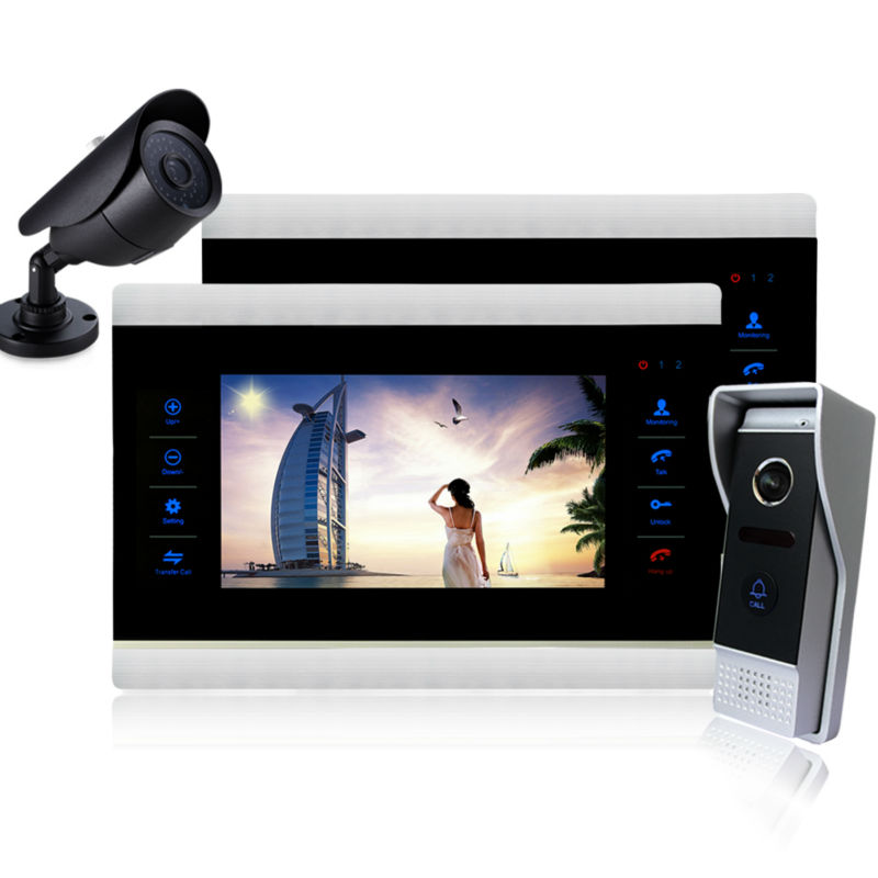 YSECU 10 inch video door phone intecom wired doorphone video call door video door intercom system camera doorphone free shipping<br><br>Aliexpress