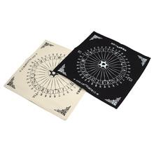 Table Pendulum Chart Magic Hexagram Pentacle Runes Tarot Wicca Pagan Altar Props Divination Black White 904-260(China (Mainland))