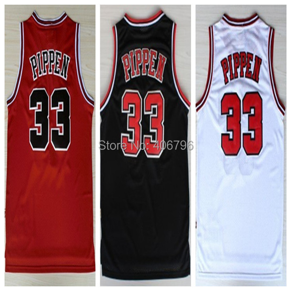 #33 Scottie Pippen Brand New Jerseys Classical Red/White/Black Basketball Jersey(China (Mainland))