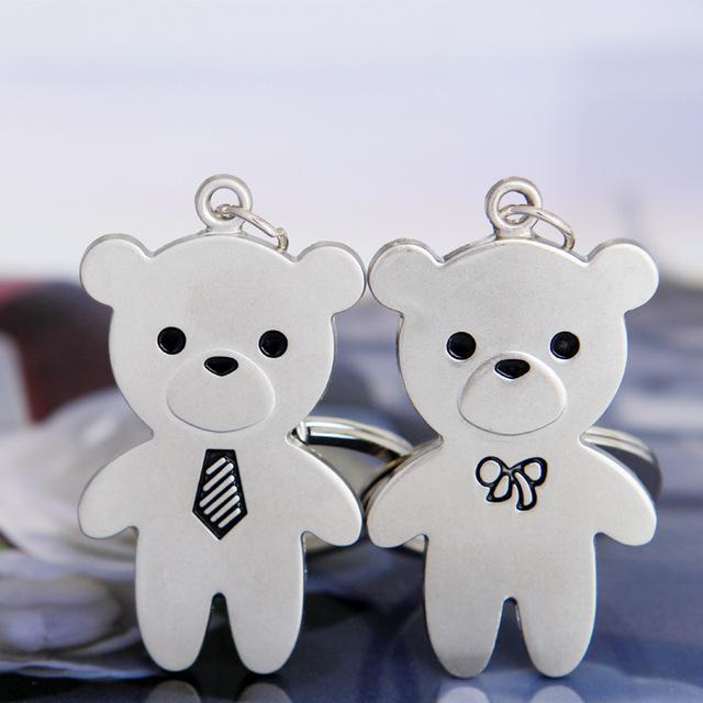 Пара Медведь брелок-New Cool Роскошный металлический Брелок Ключа Автомобиля Брелок Симпатичные Медведь цепи Для Человека Женщин Подарок оптовая 17285