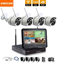 1280*720P HD Wireless Outdoor Network/IP Security Camera 4CH 720P HD WIFI NVR Wireless CCTV Surveillance Systems Home Security