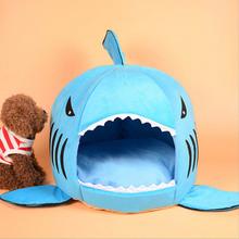 New Shark Shape Pets Beds Warm Soft Dog House Pet Sleeping Bag Dog Kennel Beds for Cat House Katzenbett Cama Para Perro(China (Mainland))