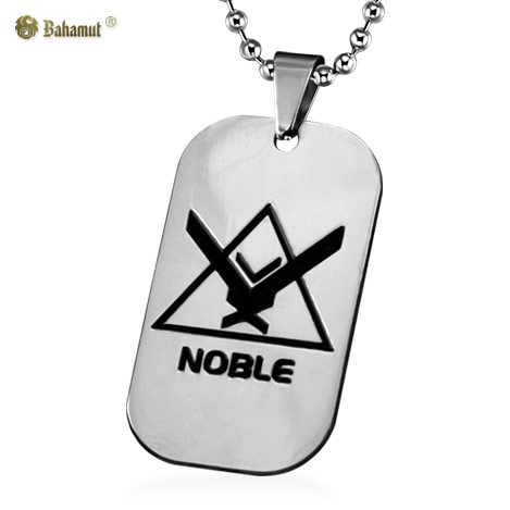 Bahamut Game Jewelry Halo UNSC Noble Dog Tag Necklace Pendant Titanium Steel Chain(China (Mainland))