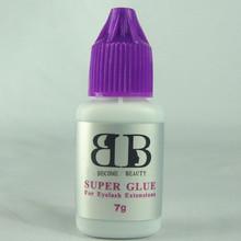 high quality Korea eyelash extensions glue makeup eyelash glue super glue 7g/bottle(China (Mainland))
