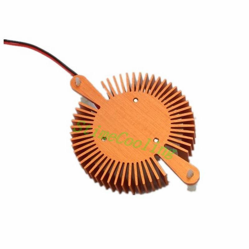 80pcs Golden 12v 2 pin 80mm Nvidia ATI VGA Video Card Cooling Fan Heatsink Cooler(China (Mainland))