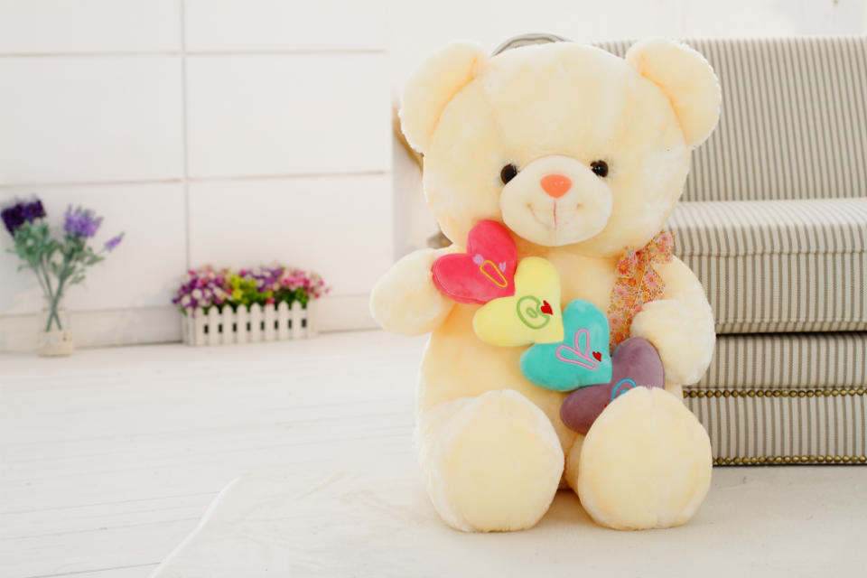 Free shipping colorful bear plush toy teddy bear soft stuffed toy teddy bear soft doll factory supply(China (Mainland))
