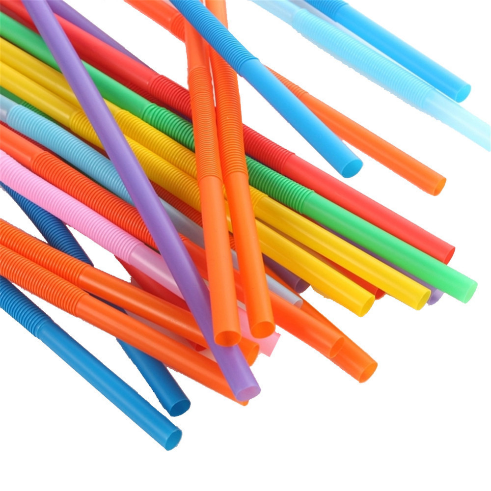 100pcs colorful Plastic Straw Drinking sucker suction tube for Birthday Party wedding creative straws bar wine cup decoration(China (Mainland))