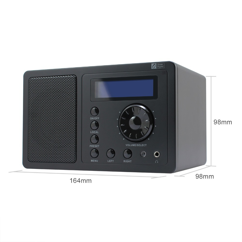 Bedroom Mini Internet Radios Alarm Clock with Sleep Timer Remote Control Wi  Fi Connection Radio. Bedroom Radio