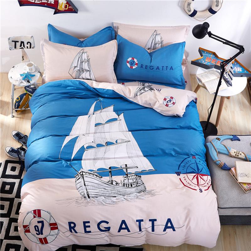 achetez en gros voilier couette en ligne des grossistes voilier couette chinois aliexpress. Black Bedroom Furniture Sets. Home Design Ideas