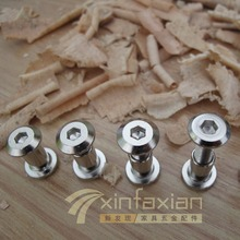 Plywood flat nut screw nut on the inside cross hex nut combination lock nut M6 * 12—110