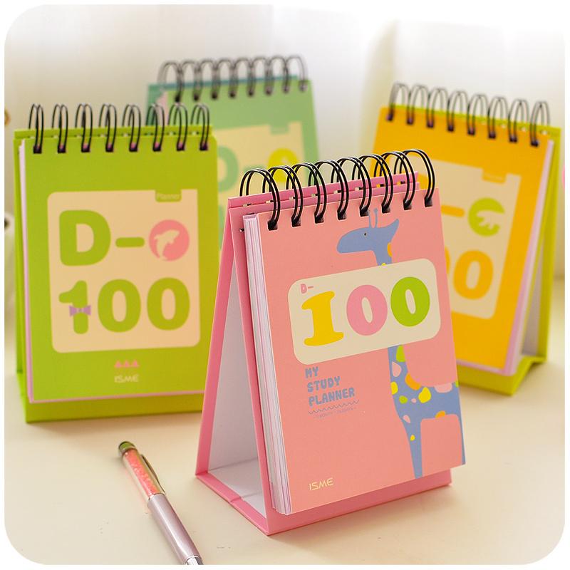 100 dia count down planner pour tude rgime de mariage papeterie caderno agenda journal livre matriel escolar fournitures scol - Etude Organisateur De Mariage