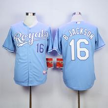 MLB Men's KANSAS CITY ROYALS BO JACKSON Eric Hosmer Salvador Perez ALEX gordon Jersey(China)