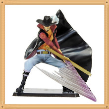 1 Pcs Anime One 16CM Piece POP Dracule Mihawk PVC Action Figure Toys Battle Ver