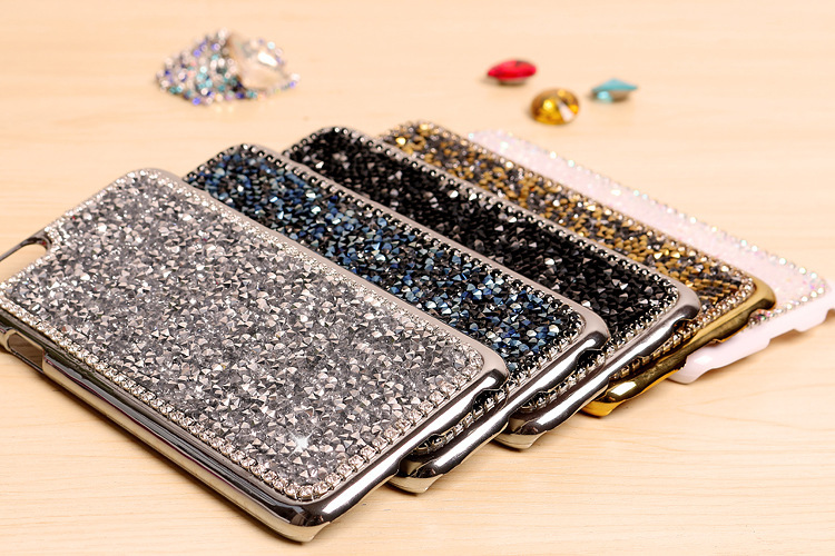 "Bling Diamond Crystal Stone Hard Cell Phone Cases Rhinestone Protective Cover for iphone 6 Plus Case 5.5""(Hong Kong)"