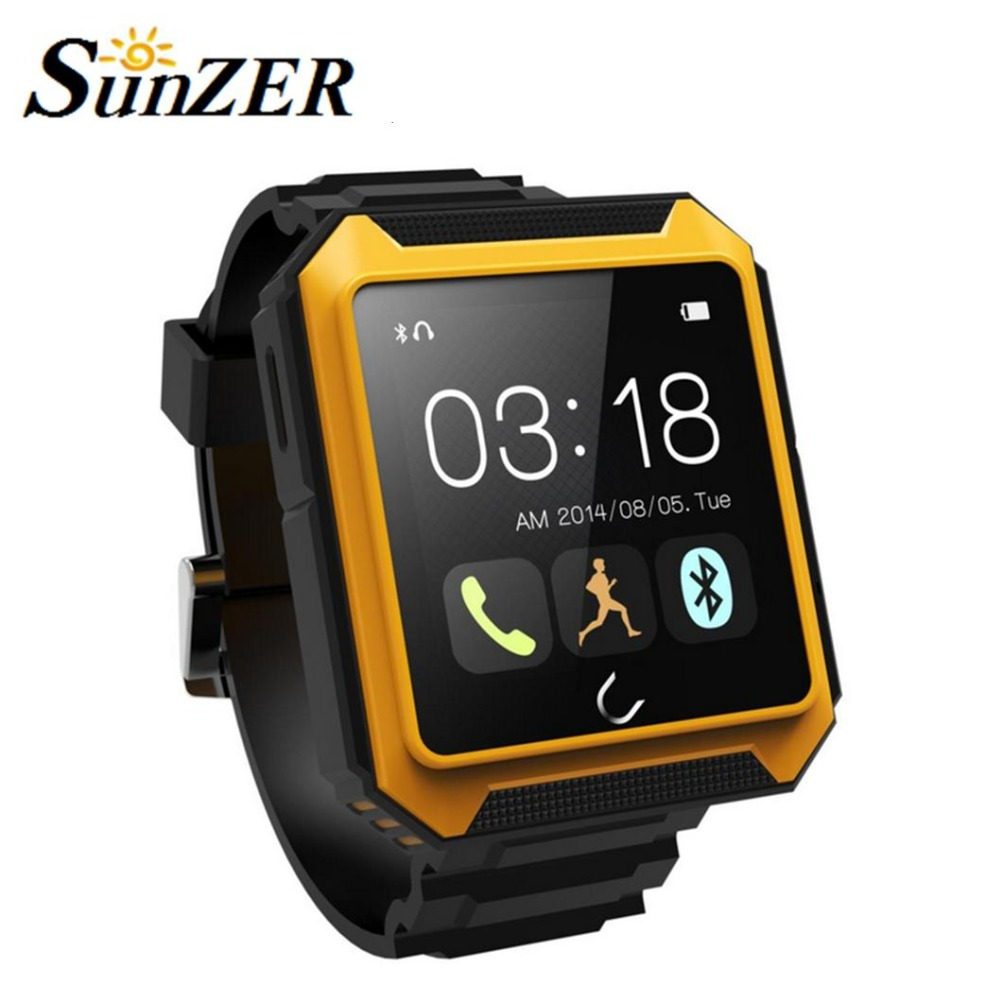 2016 Uwatch Uterra Bluetooth Smart Watch IP68 Waterproof Pedometer Sports Wristwatch TF Card for Smartphone android mobile watch(China (Mainland))