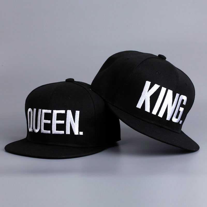 Fashion KING QUEEN Hip Hop Baseball Caps Embroider Letter Couples Lovers Adjustable Snapback Sun Hats for Men Women KH981562(China (Mainland))
