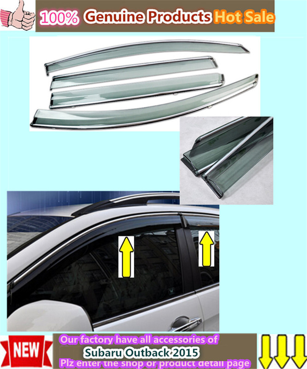 High Quality car styling cover detector plastic Window glass Wind Visor Rain/Sun Guard Vent 4pcs for Subaru Outback 2015<br><br>Aliexpress