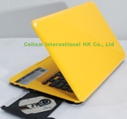 laptop 13.3'' Intel D2500 cpu Dual-core window 7 camera 1.3MP 2G 320G HDMI LAN USB2.0 Wifi 1366*768 computer DVD ROM - Celiam Official store