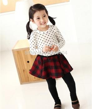 Toddler Baby Girls Polka Dot Long Sleeve T-shirt Tops Blouse Casual Cotton Shirt