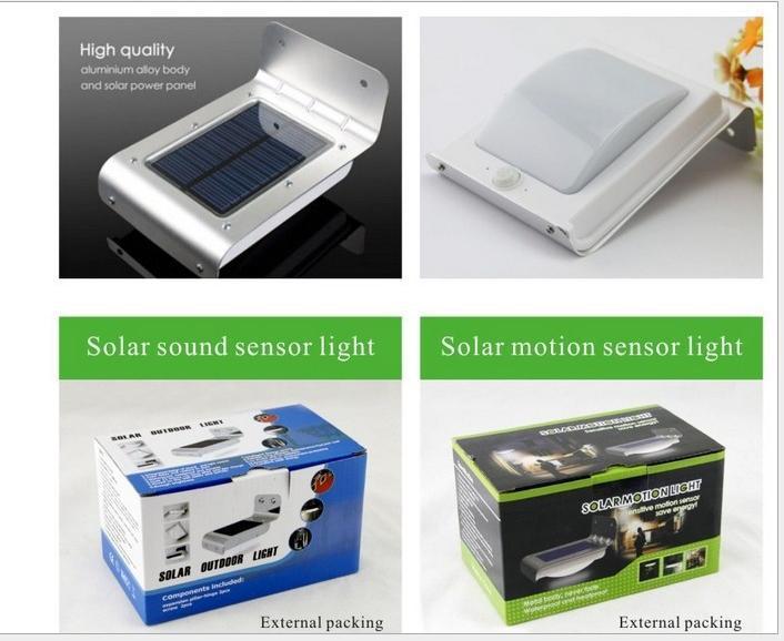 Factory direct solar motion sensor lamps\ Sound Sensor Light \Solar Wall(China (Mainland))