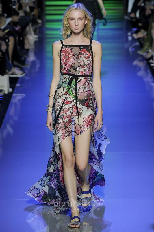 Здесь можно купить  Women runway fashion spring dress elegant flower print spaghetti strap designer maxi dress casual holiday beach dress 2016 D5607  Одежда и аксессуары