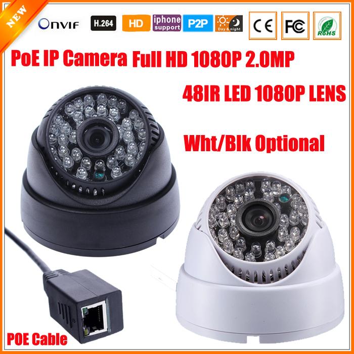 Ultra Low Illumination IMX222 1080P 2.0 Megapixel 2MP PoE Cable IP Camera Security Dome CCTV 48 IR LED 1080P Lens IR Cut ONVIF(China (Mainland))