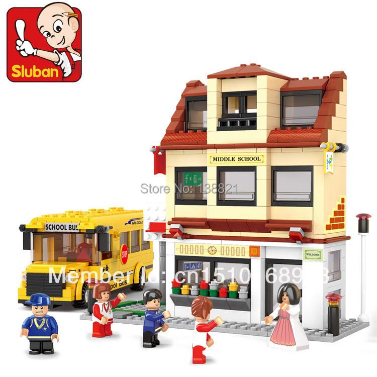 DIY Educational Toys children Building Blocks school bus self-locking bricks Compatible Lego - zhichao shaw's store
