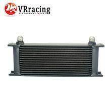 Aluminum Universal Engine transmission oil cooler 15rows Black