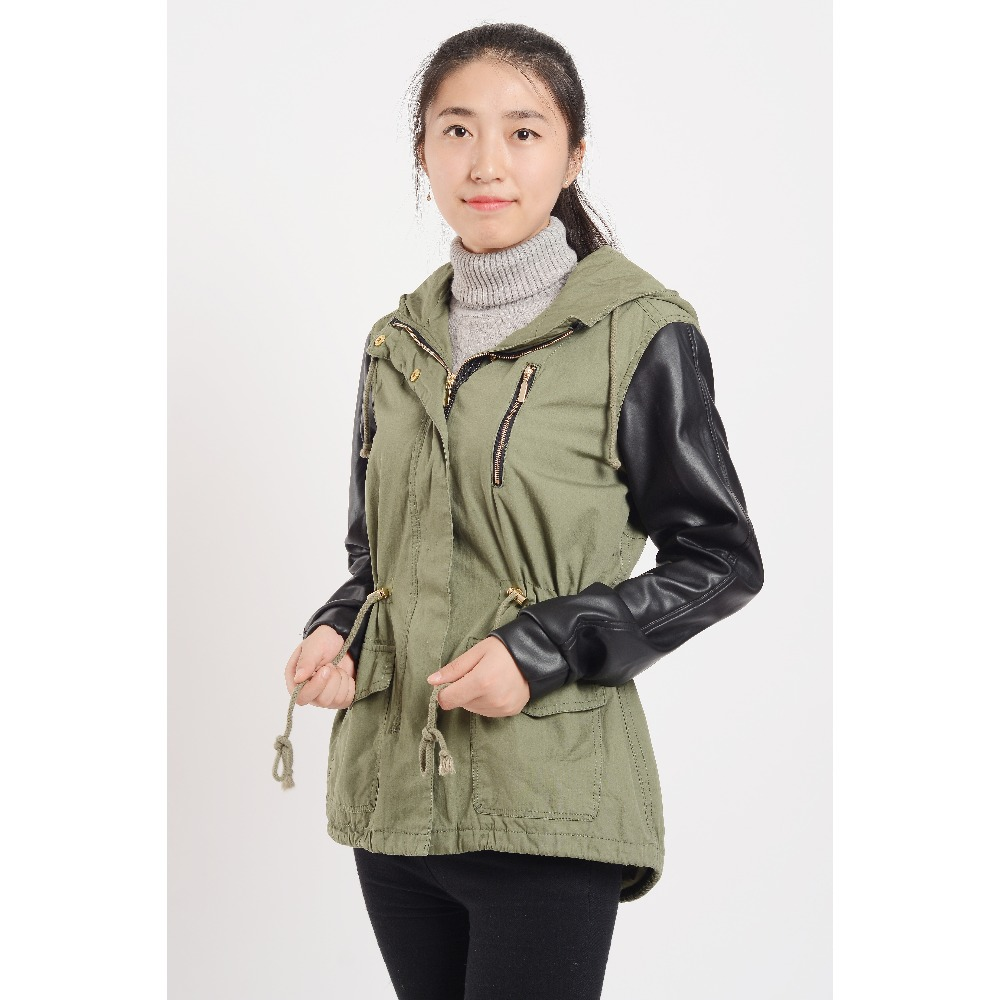 Women's coat leather sleeves – Jackets photo blog