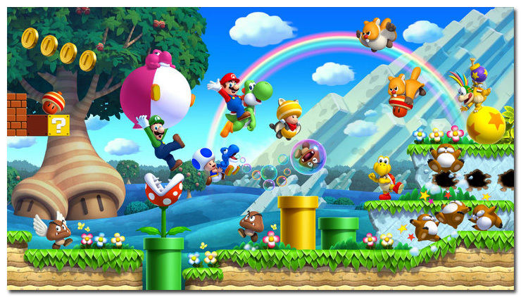Hot Game Super Mario Bros Art Silk Large Poster 24x43 Hot