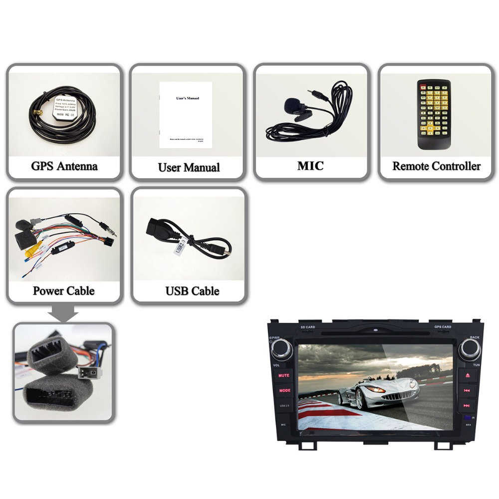 8 Android 4 4 Stereo for Honda Civic DVD Player Multimedia Radio GPS Navigation 3G 1024