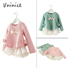 Free shipping hot sale 2016 new girl spring autumn hoodies children corlorful outwear high quantity UNINICE BRAND clothing(China (Mainland))