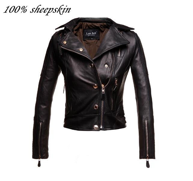 Online Buy Wholesale black with gold zipper leather jacket from
