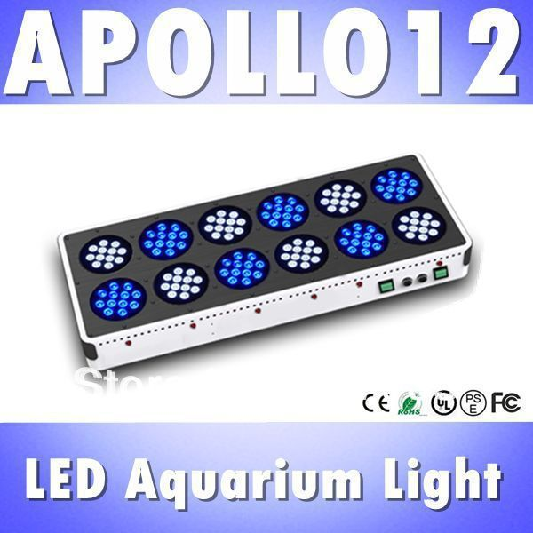 Free shipping Apollo12 144*3W led light coral reef blue led 450nm