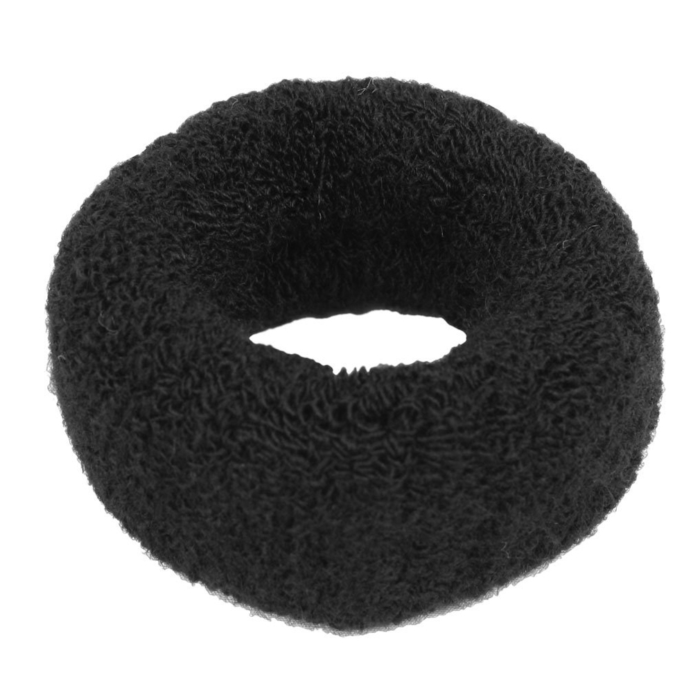 """Hairstyling Black Terry Ponytail Holder 1.6"""" Wide Stretchy Hair Band(China (Mainland))"""